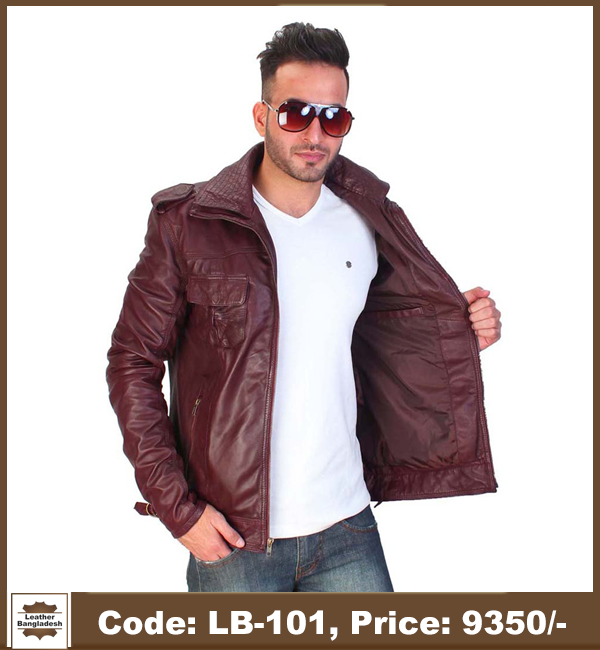 Latest Red Color Biker Genuine Leather Jacket 1