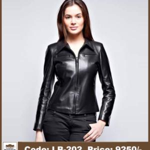 Latest Hot Ladies Biker Genuine Leather Jacket