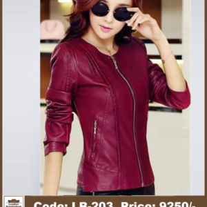 Latest Red Color Ladies Genuine Leather Jacket