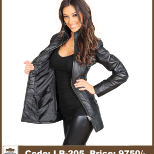 Latest Hot Ladies Long Genuine Leather Jacket
