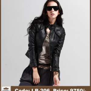 Latest DJ Style Ladies Genuine Leather Jacket