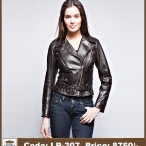 Latest Hot Biker Ladies Genuine Leather Jacket